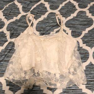 Darling lace crop